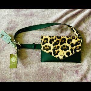 Vince Camino Leopard Envelope Belt Bag